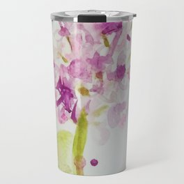 Lilac Sweet Pink Blossom watercolor by CheyAnne Sexton Travel Mug