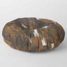 Rustic Cowhide Spots Floor Pillow