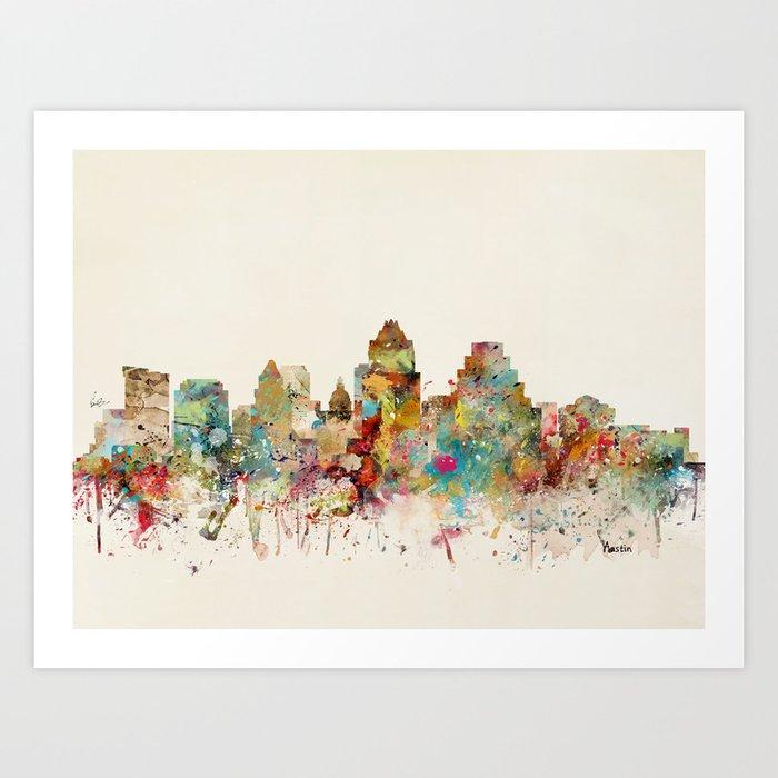 austin texas skyline Kunstdrucke