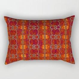 African Horn Print Magenta Rectangular Pillow
