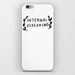 Internal screaming iPhone Skin