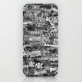 Heavy metal bands iPhone Case