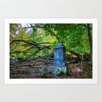 Autumn in the Cemetery Art Print