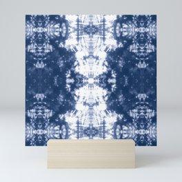 Shibori 6 Indigo Blue Mini Art Print