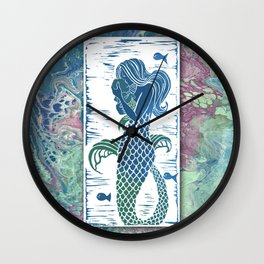 A Mermaids true love Wall Clock