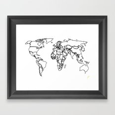Sovereign Map Framed Art Print