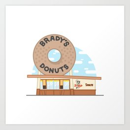 Brady's Donuts Art Print