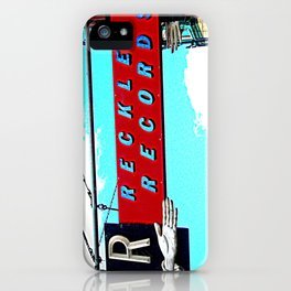 Reckless Records ~ chicago sign iPhone Case