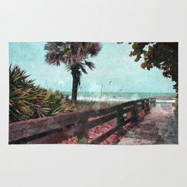 boardwalk to beach Rug