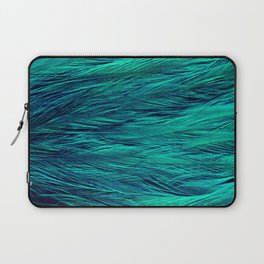 Teal Feathers Laptop Sleeve