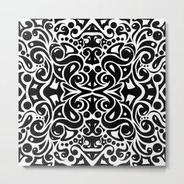 Kaleidoscope Black&White Metal Print