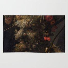 Four Seasons in One Head - Giuseppe Arcimboldo, 1590 Rug