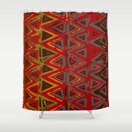Aztec Fire Ritual Batik Shower Curtain
