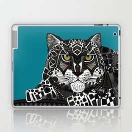 snow leopard teal Laptop & iPad Skin