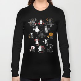 Halloween Cats In Terrible Imagery Long Sleeve T-shirt