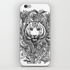 Tiger Tangle in Black and White iPhone Skin