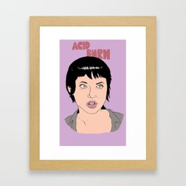 Acid Burn / Kate Libby - Hackers Framed Art Print