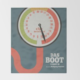 Das Boot, U-boot 96, alternative movie poster, minimal film playbill Throw Blanket