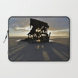 Wreck of the Peter Iredale at sunset Laptop Sleeve