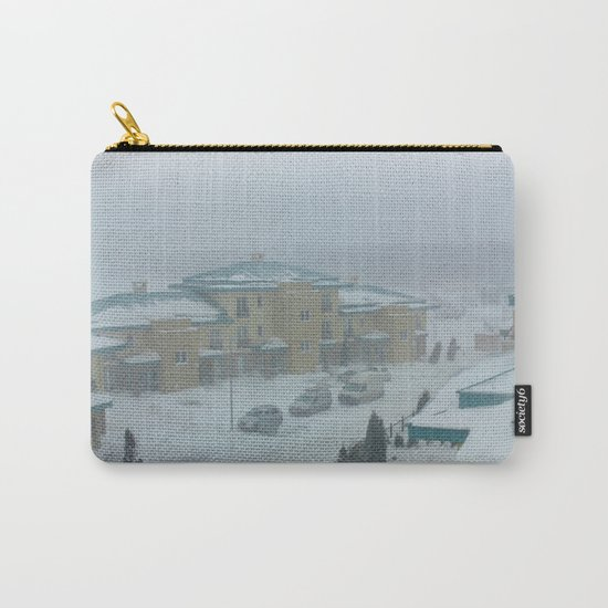 Little town in a snowy winter wonderland Carry-All Pouch