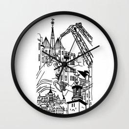 Three City Silhouettes Wall Clock