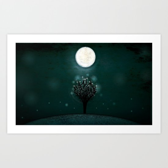 the midnight tree Art Print