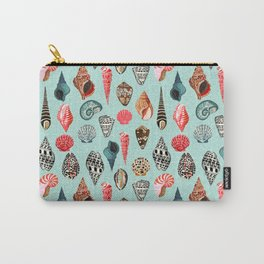 Seashells ocean nautical beach seaside children kids baby home dec shell illustration Andrea Lauren Carry-All Pouch