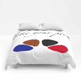 Take Your Pick (Guitar Picks) Comforters