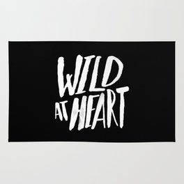 Wild at Heart x Black and White Rug