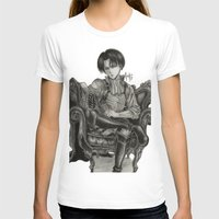 levi T-shirts featuring Levi Ackerman by OtakuRuki