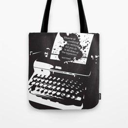 Ernest Hemingway Quote Tote Bag