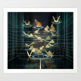 Mathematics flight Art Print