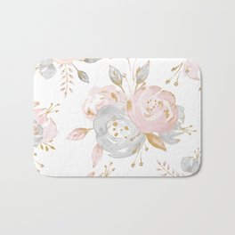Roses Gold Glitter Pink by Nature Magick Bath Mat