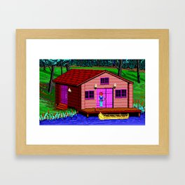 The Boathouse - The Crimson Diamond Framed Art Print