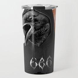 The Satanic Metal Crow Travel Mug