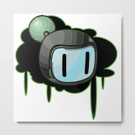 The Green Bomber  Metal Print