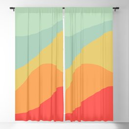 Abstract Color Waves - Bright Rainbow Blackout Curtain