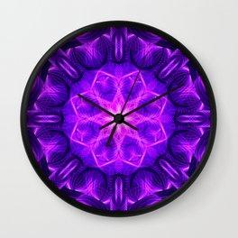 Velvet Star Mandala Wall Clock