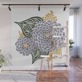 Geometric Flower Wall Mural