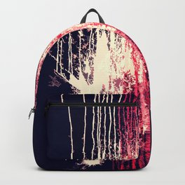 Pink and Navy Blue Abstract Watercolor Pain Drips Backpack