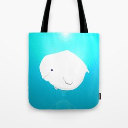 Fat Beluga Whale Tote Bag