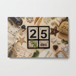 Zero waste, eco friendly Christmas concept Metal Print