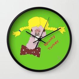 Spunky Turkey Yellow Hair GB TX Wall Clock