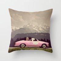 never stop exploring Throw Pillows featuring NEVER STOP EXPLORING VII by Monika Strigel