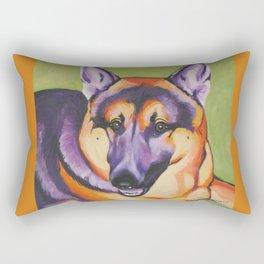 German Shepard Pop Art Pet Portrait Rectangular Pillow