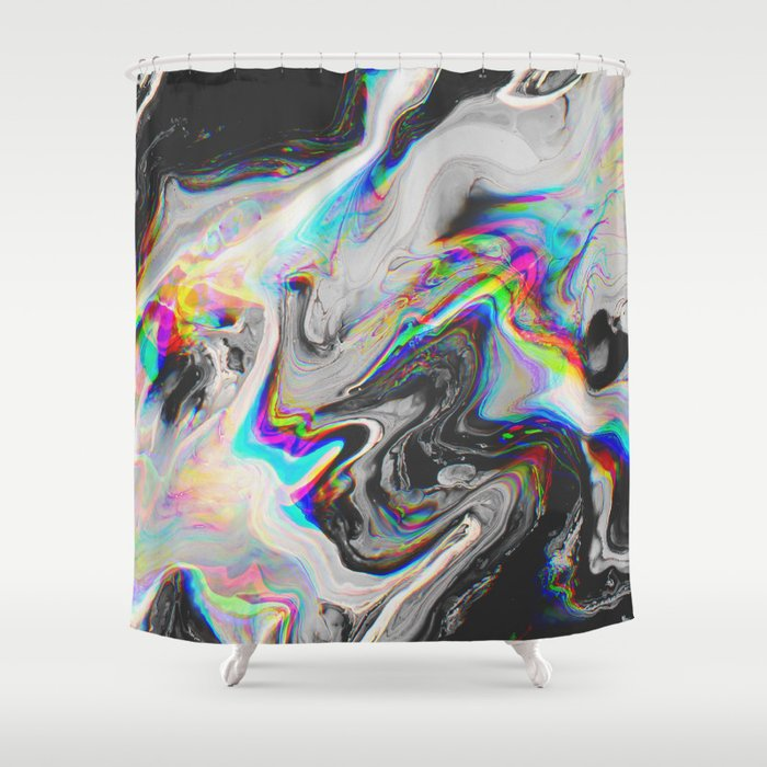 CONFUSION IN HER EYES THAT SAYS IT ALL Shower Curtain