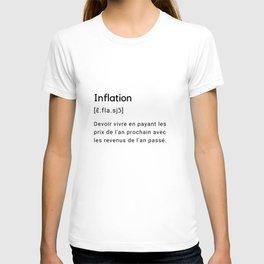Définition drôle du mot inflation.  T-shirt