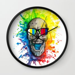 """Skullorvision III"" (no service) Wall Clock"