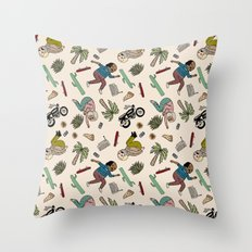 On the freedom experienced by Desert Bike Harpies.   Throw Pillow