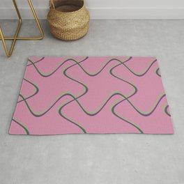 3rd Dimensional Doodle | Watermelon Rug